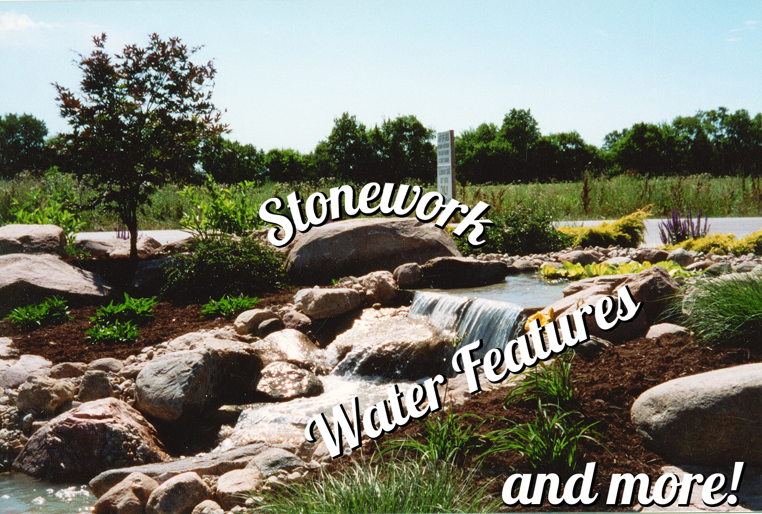 Stonework, water features, and more