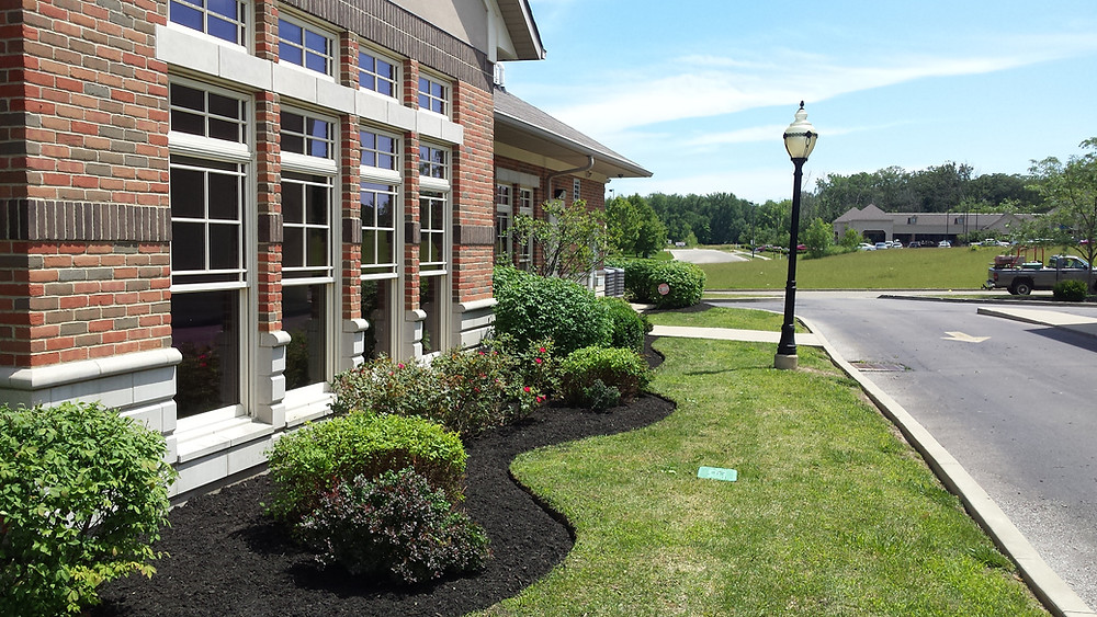 A well defined edge keeps mulch in & grass out