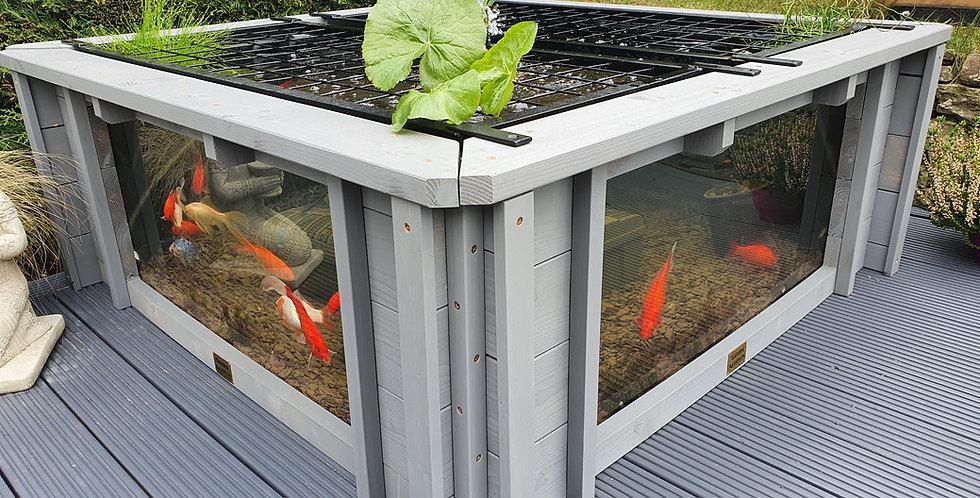 Grey Lotus Clear View Garden Aquarium - Two Windows