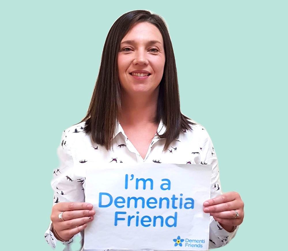 Gemma Thomas - Director of Garden Aquarium Ltd proud to be a Dementia Friend.