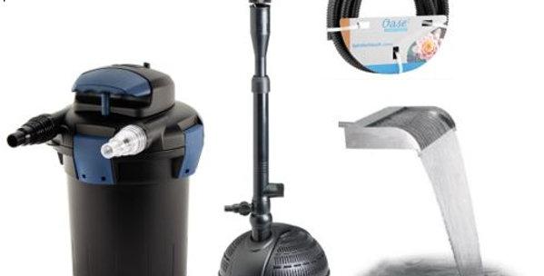 External Pump Set - PondoVario 2500, Biopress 4000, Pipe with Waterfall