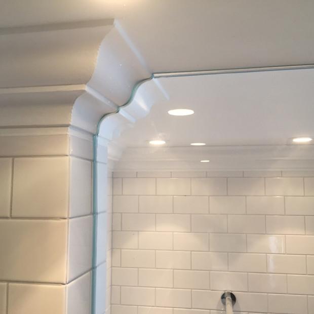 Måttanpassad glasdörr dusch