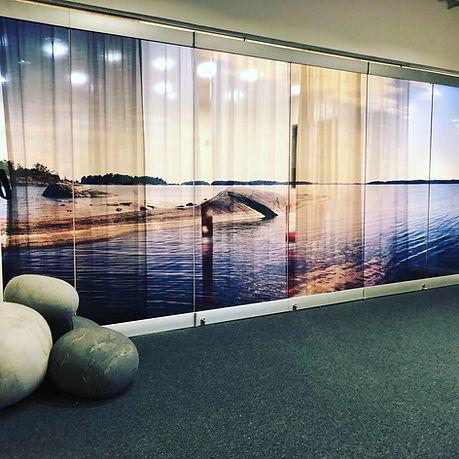 Glasvägg kontor Stockholm Printglas