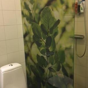 Printad glasdörr dusch
