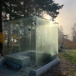 Bastu utomhus glas