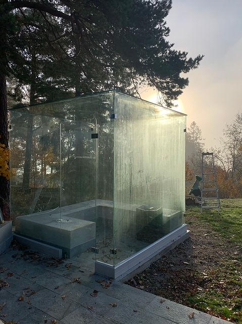 Glasbastu utomhus Stockholm