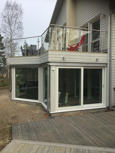 Skjutdörrar glas altan Stockholm