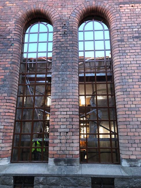 Industrifönster fasad Stockholm