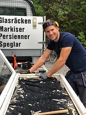 Glasreparationer Stockholm glasmästare Åkersberga