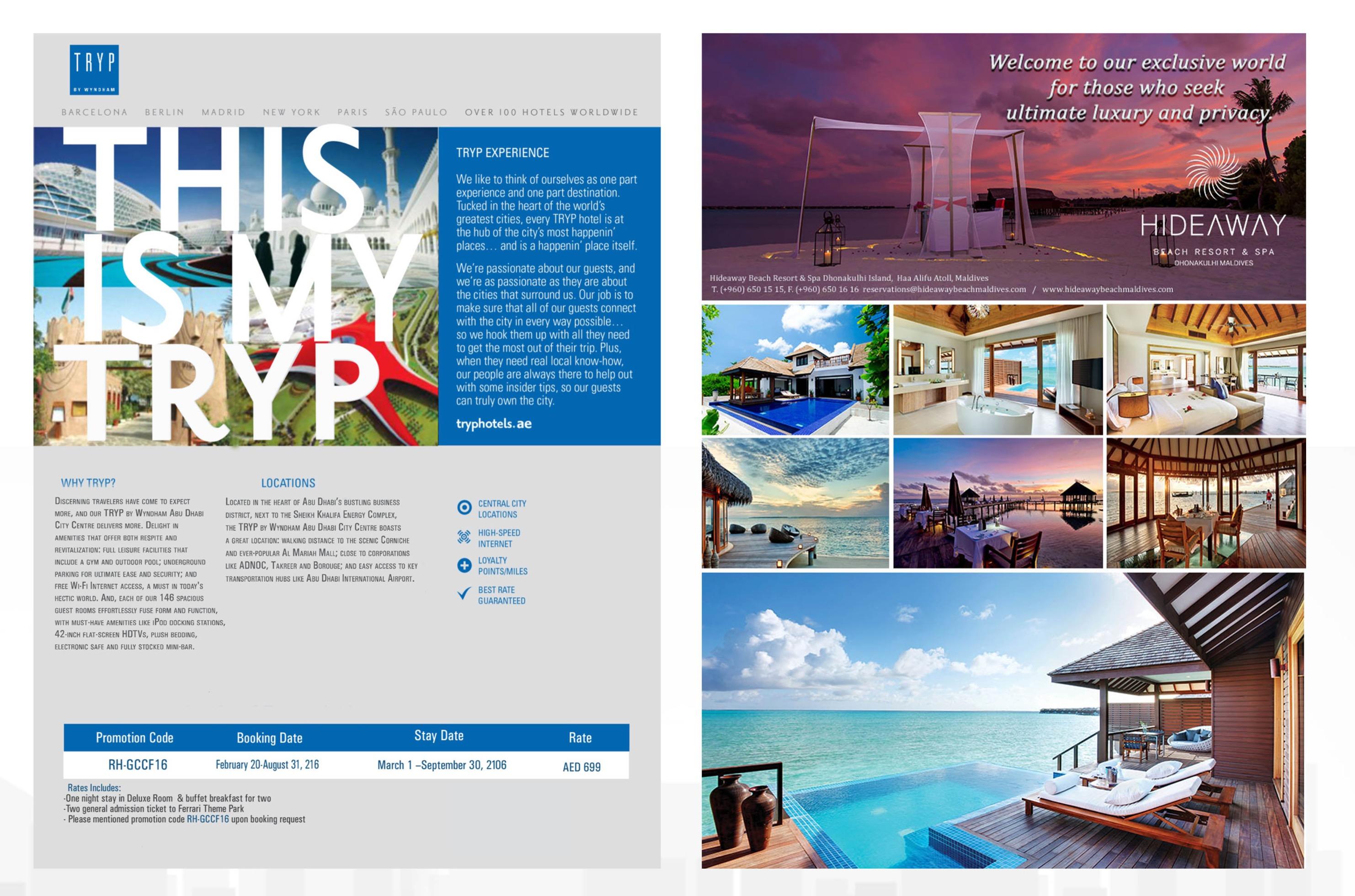 Flyers & Magazine ads