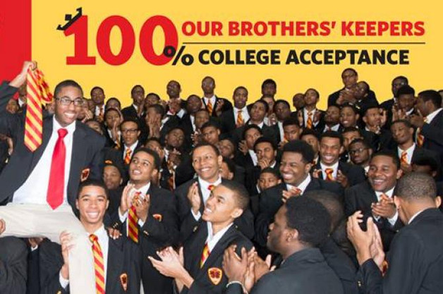 100% COLLEGE ACCEPTANCE FOR STUDENTS AT URBAN PREP ACADEMY, CHICAGO