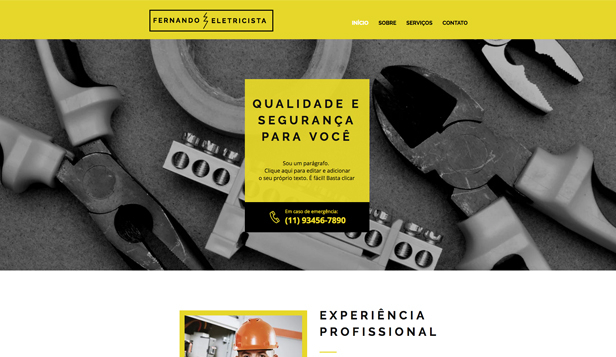Ver todos os templates website templates – Eletricista
