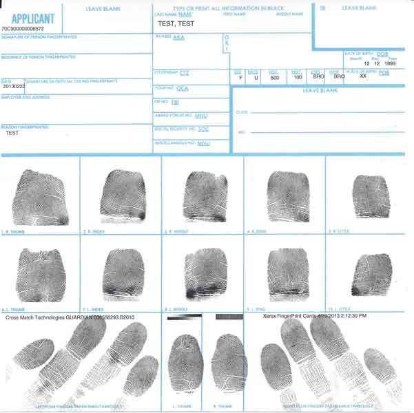 VIP Express SF 87 Ink Fingerprint