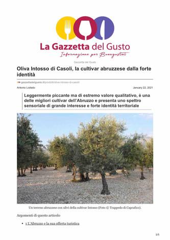 Intosso di Casoli, cultivar abruzzese dalla forte identità
