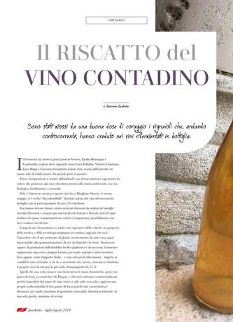 Il riscatto del vino contadino