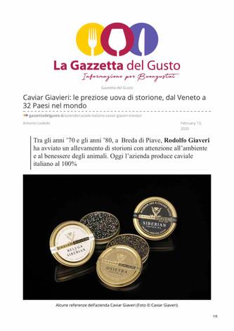 Caviar Giaveri: il caviale dalla provincia di Treviso