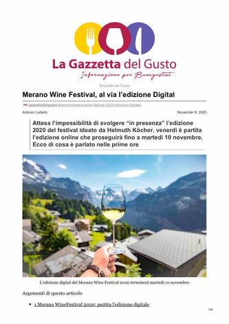 Merano WineFestival 2020 Digital