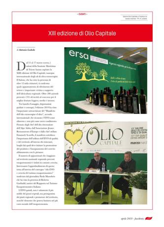 Olio Capitale: a Trieste la XIII edizione