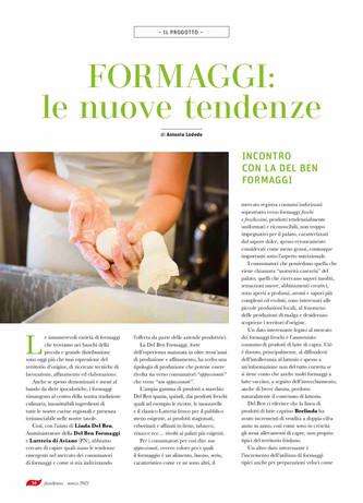 """Con """"Del Ben Formaggi"""": le nuove tendenze del formaggio e analisi dei consumi"""