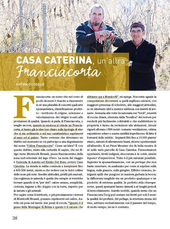 Casa Caterina, QBquantobasta, Franciacorta, Spumanti, Monticelli Brusati, Metodo Classico, Aurelio del Bono, Champenoise