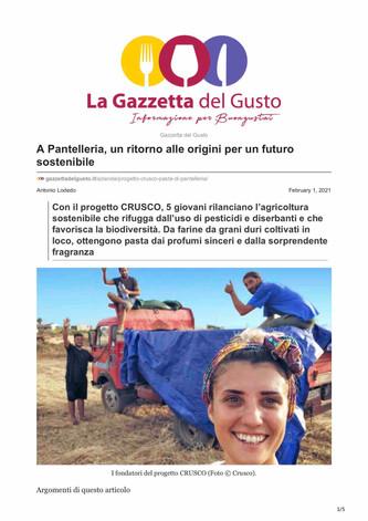 CRUSCO: a Pantelleria un ritorno alle origini per un futuro sostenibile