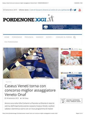 Caseus Veneti torna con il Concorso Miglior Assaggiatore del Veneto ONAF