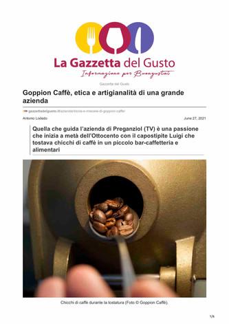 Goppion Caffè, etica e artigianalità di una grande azienda