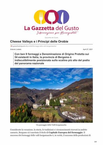 Cheese Valleys e I Principi delle Orobie