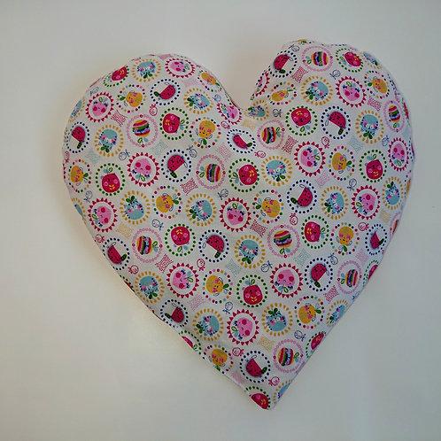 Coussin de noyaux de cerises coeur