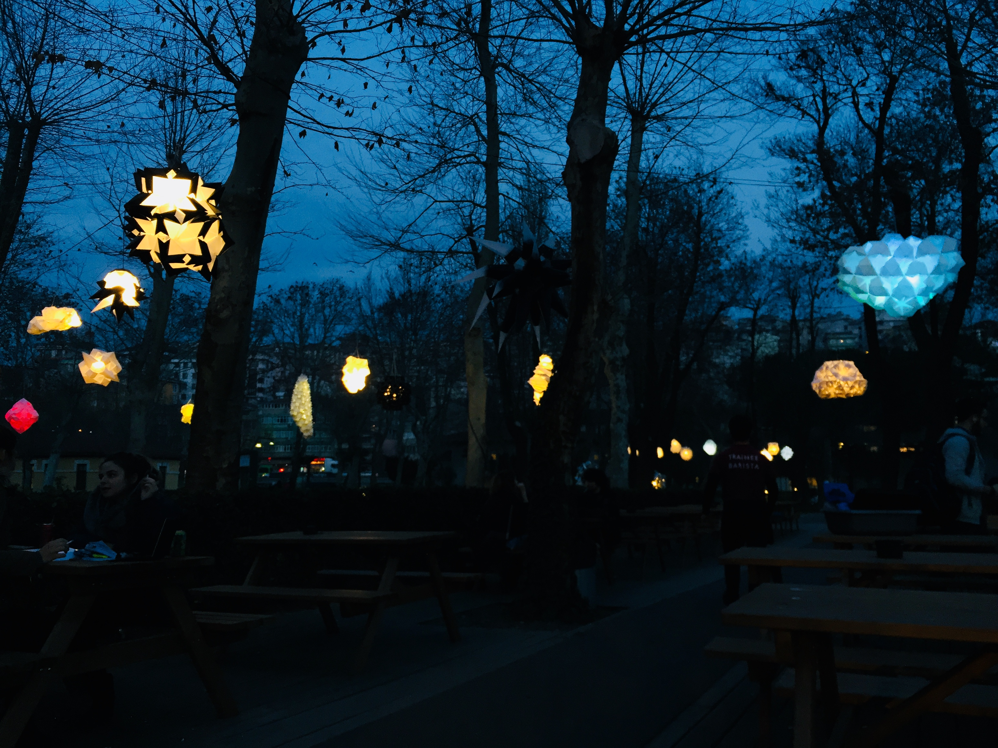 the Lanterns in the campus, 2018