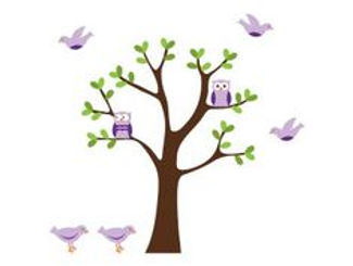 Purple and Green Tree and Owls.jpg