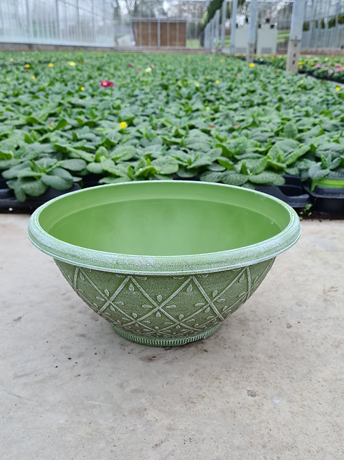 "12"" Prisma Bowl - Powdered Moss Green"