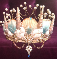 Dreaming Olypsis Aquamarine Seashell Mermaid Crown