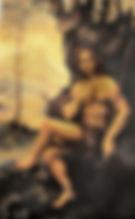 Study of Leonardo da Vinci's St John the Baptist Pastel, Areena Arjuna Estul.jpg
