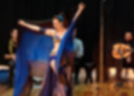 Areena Belly Dancer, blue veil Santa Fe Hafla.jpg
