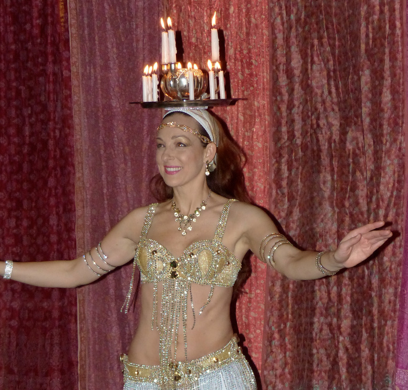 Areena Belly Dancer Candle Tray