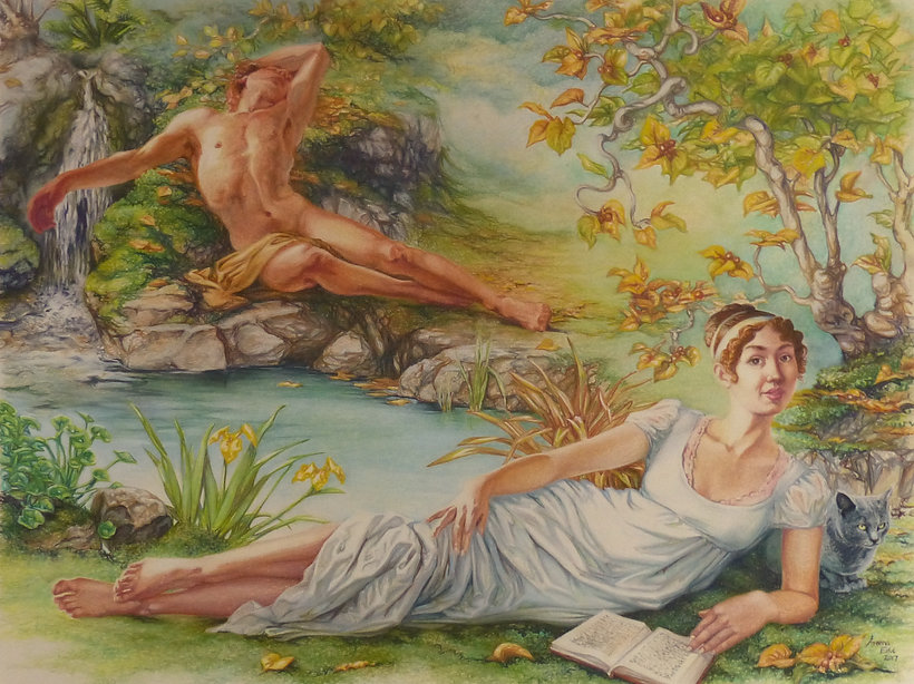 """Eros and the Naiad,""copyright 2017 Areena Estul"