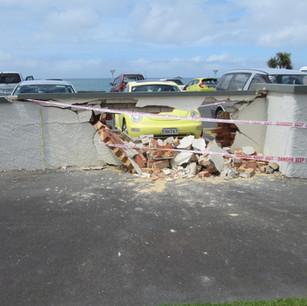 St Clair Wall Destroyed, Dunedin, Wainwr