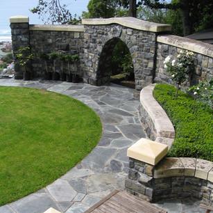 Oamaru Stone and Basalt Wall, Wainwright