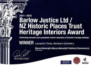 Barlow Justice Heritage Award 2012