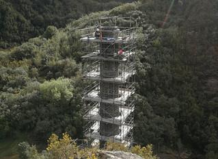 Rebuilding and Conserving Blackball Coal Mining Chimney
