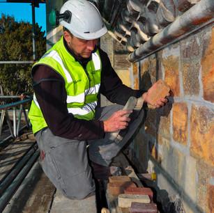 Larnach Castle, Otago, selecting mortar