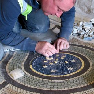 Dunedin Railway Station, Mosaic Repairs,