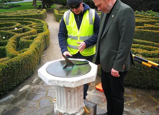 Setting the Sundial, Dunedin Botanical Gardens