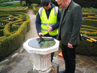 Setting the Sundial, Dunedin Botanical Gardens