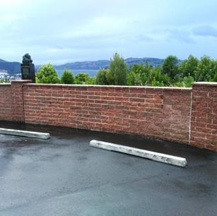 Unity Park Wall Rebuilt, Dunedin, Wainwr