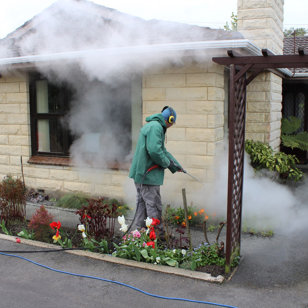 Cleaning Oamaru Stone, Wainwright Stonem