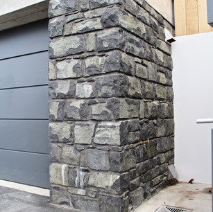 Coursed Basalt Wall, Wainwright Stonemas