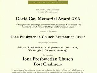 David Cox Memorial Award 2016