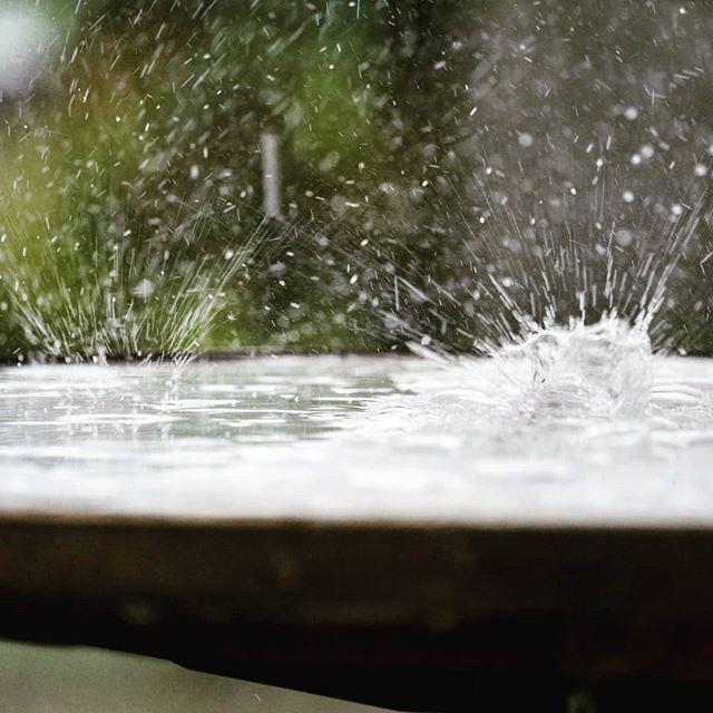 Das war viel Regen! 😲  #heavyrain #rege